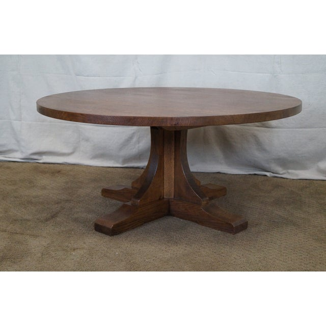 Height Adjustable Extending Coffee Dining Table: Stickley Oak Adjustable Height Coffee/Dining Table