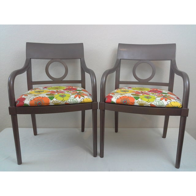 Edward Axel Roffman Floral Chairs - A Pair - Image 2 of 5