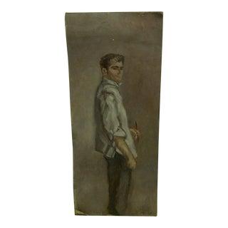 """Standing Portrait"" Original Painting by McDuff"