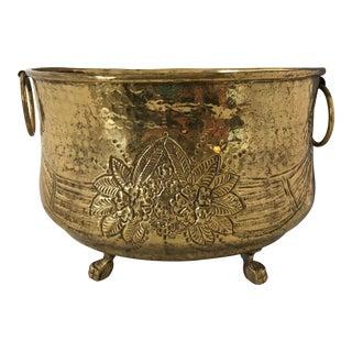 Footed Brass Centerpiece Bowl