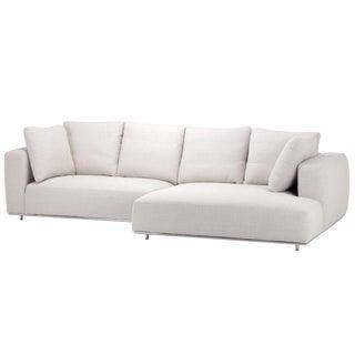 Modern Beige Linen Sofa