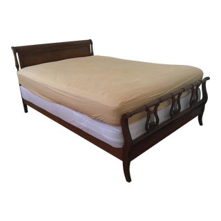 Drexel Mid-Century Traditional Mahogany Full-Queen Headboard & Footboard