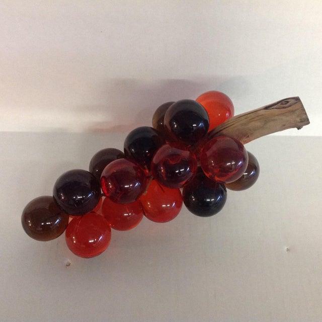 Vintage Mid-Century Orange Lucite Grapes - Image 3 of 7