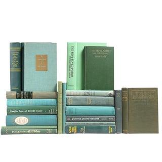 Antique & Vintage Verse Green Books - Set of 20
