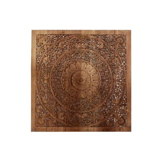 Temple Wood Carving Panel