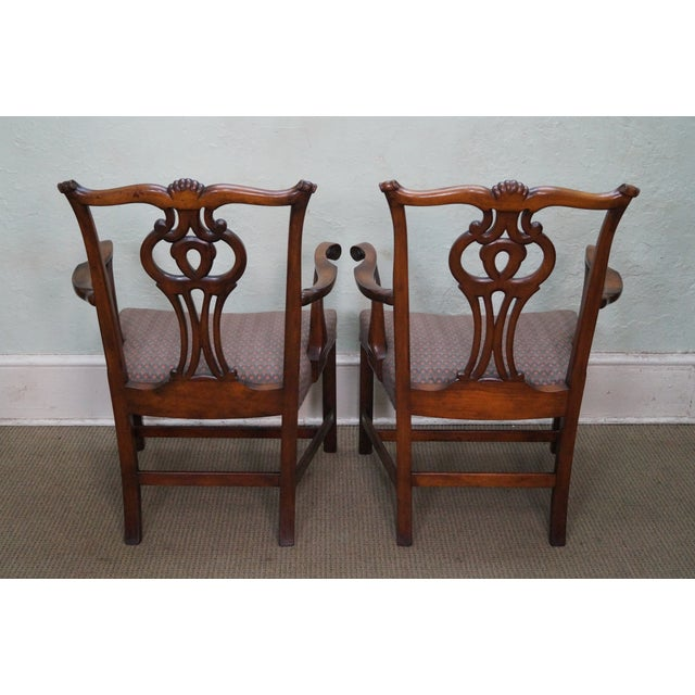 Mahogany Chippendale Armchairs - A Pair - Image 4 of 10
