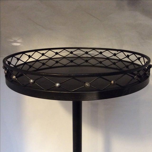 Black Metal Granite Top Side Table - Image 5 of 7