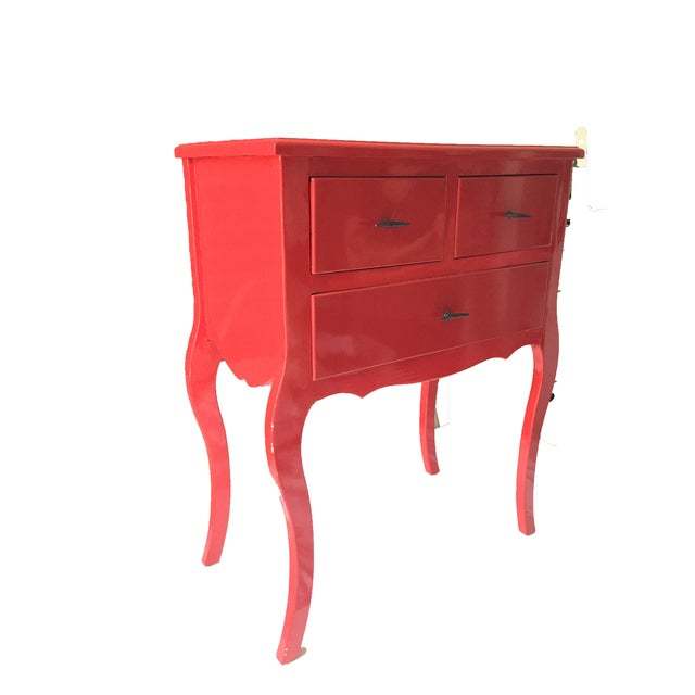 Image of Red Side Table