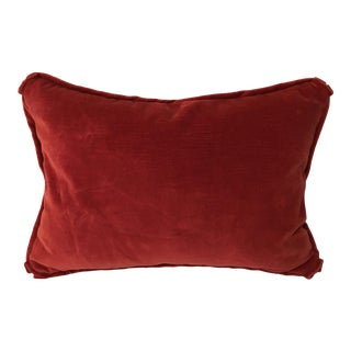 Custom Red Velvet Pillow