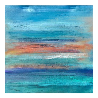 "Original ""Tradewinds"" Contemporary Abstract Landscape Painting by Alicia Dunn"