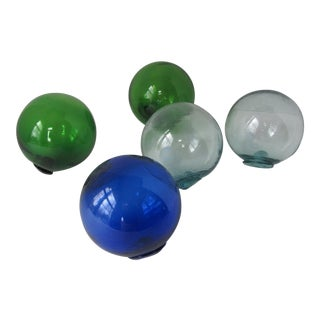 Blown Glass Fishing Floats - Set of 5