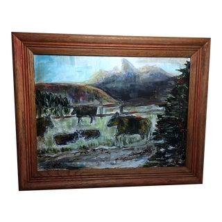 Teton Canyon Cattle Folk Art