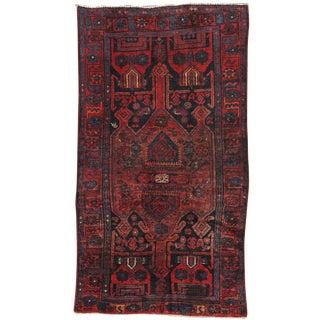 """Vintage Hamadan Wool Area Rug- 3'6"""" x 6'4"""""""