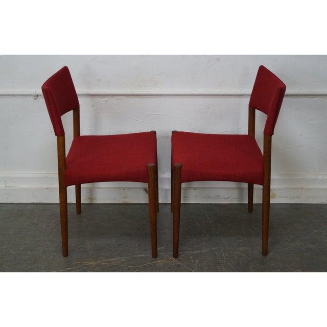 Vintage Danish Modern Teak Dining Chairs - Set of 8 - Image 4 of 11