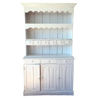 Shabby Chic Two-Piece Hutch/Hoosier Cabinet