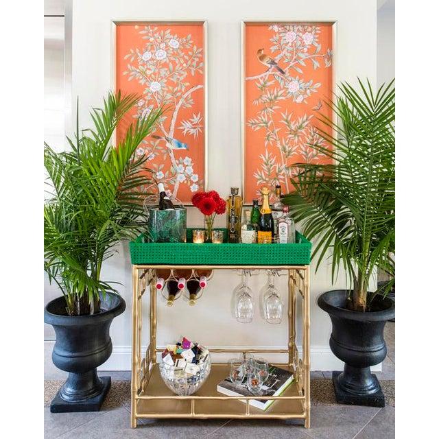 Image of Society Social Madison Mixer Tray Top Faux Bamboo Bar Cart