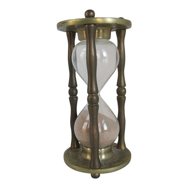 Vintage Brass Zodiac Hour Glass - Image 1 of 6
