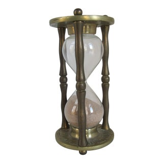Vintage Brass Zodiac Hour Glass