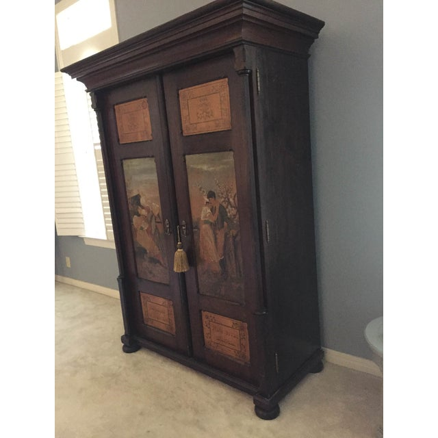 Image of Hand Painted Czech Armoire