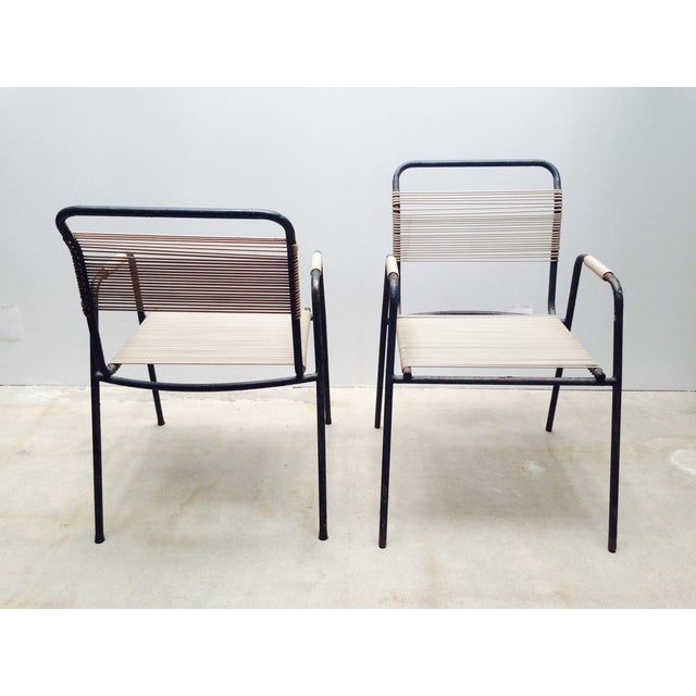 Rare Exterior Corded Ames Aire Arm Chairs - A Pair - Image 5 of 7