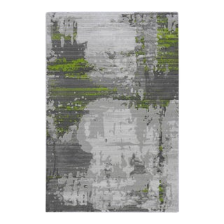 Abstract Art Green Rug - 5′ × 7′7″