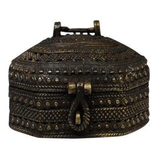 Vintage Brass Latched Box