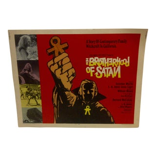 "1971 Vintage Movie Poster of ""The Brotherhood of Satan"""