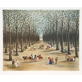 Claude Tabet - Tree Lined Path Lithograph