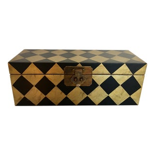 Gold & Black Diamond Patterned Box