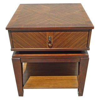 New Mid-Century Style End Table With Drawer