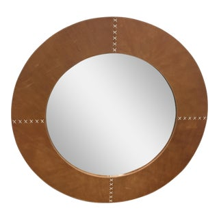 Jamie Young Round Cross Stitch Wall Mirror