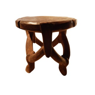 Tanzanian Makonde Three Legged Stool