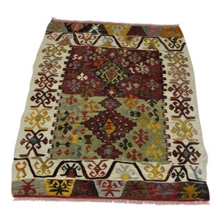 Turkish Southwestern Sesigned Kilim Rug - 3.7 x 2.6