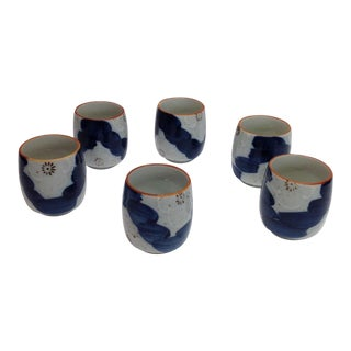 Japanese Painted Tea Cups - Set of 6