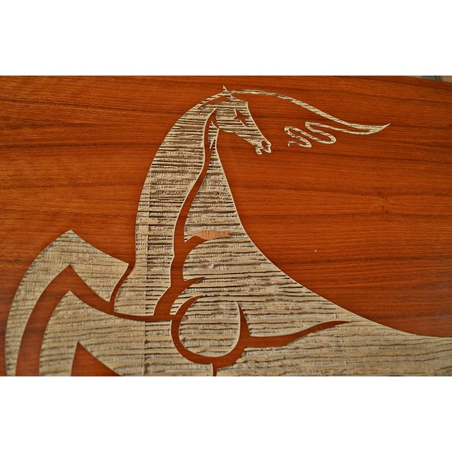 Mid Century Wood Wall Art - Female Chariot - Image 5 of 8
