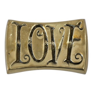 LOVE/HATE Brass Paperweight
