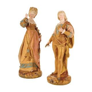 German Porcelain Court Figurines - A Pair