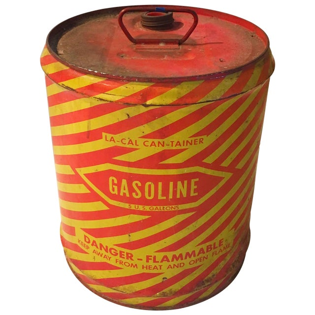 Vintage Industrial Gasoline Can - Image 1 of 4