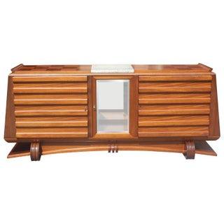 Gaston Poisson French Art Deco Mahogany Buffet