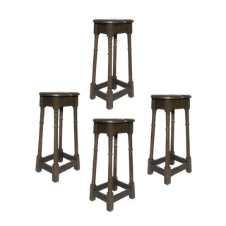English Oak Stools - Set of 4