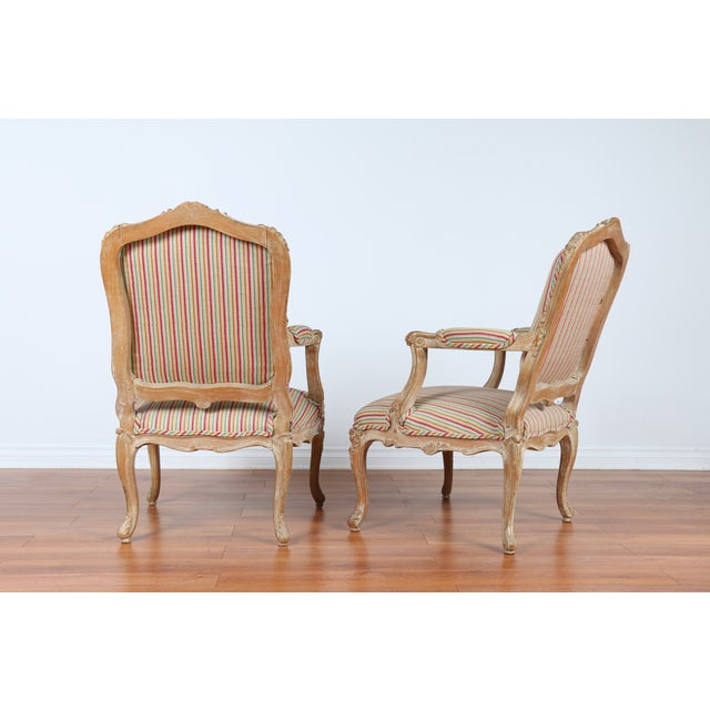 Antique 1920s French Style Armchairs - A Pair - Image 7 of 9