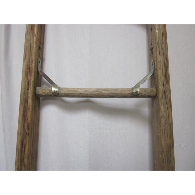 Antique Old Wood Farm Apple Picking Orchard Ladder - Image 11 of 11