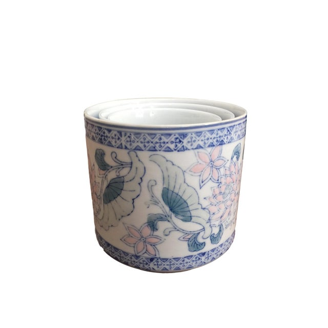 Antique Floral Pots - Set of 3 - Image 4 of 6