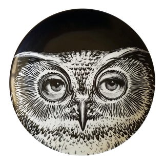 Fornasetti Tema E Variazioni Plate, Number 105, Based on The iconic image of Lina Cavalieri.