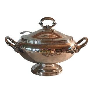 Antique English Silver Soup Tureen & Ladle