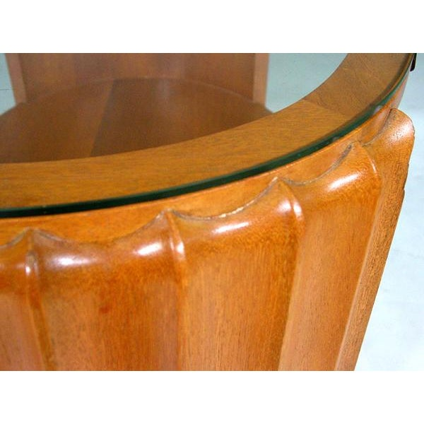 Paul Frankl Attributed Art Deco Oval Coffee Table - Image 3 of 3