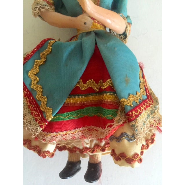 Image of 1950's Vintage Handcrafted Spanish Gypsy Souvenir Dolls- Set of 3