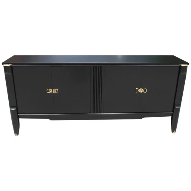 French Art Deco Ebonized Sideboard / Buffet / Bar - Image 1 of 10