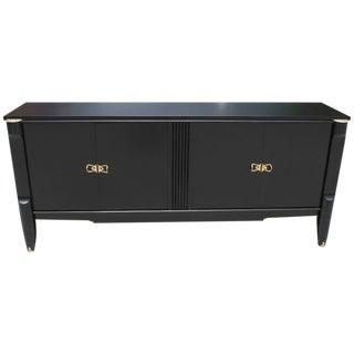 French Art Deco Ebonized Sideboard / Buffet / Bar