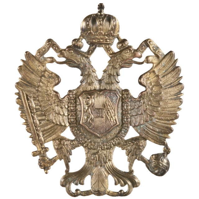 Vintage French Brass Military Badge - Image 1 of 2
